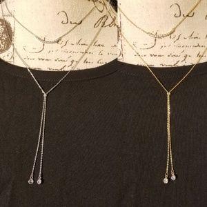 CZ layered stone necklace